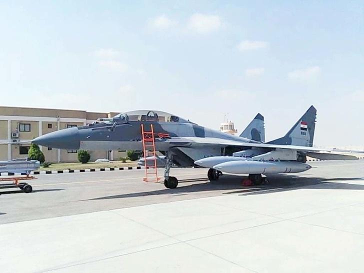 Один из поставленных в 2019 году учебно-боевых истребителей МиГ-29М2 ВВС Египта