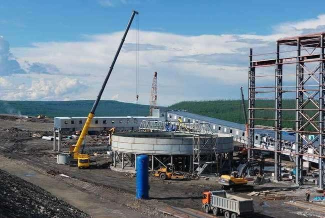 фабрика в процессе строительства
