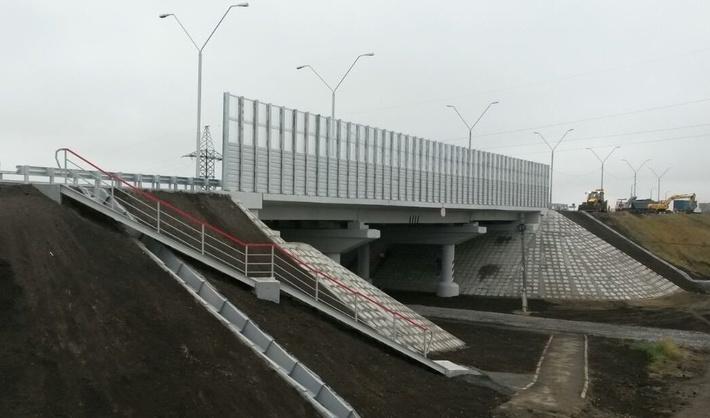 Путепровод на 813-м километре трассы Р-254 рядом с селом Троицкое
