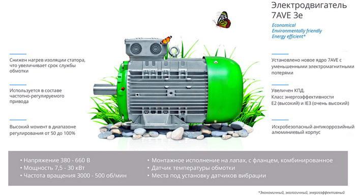 Электродвигатель 7AVE 3e стал результатом модернизации второго уровня
