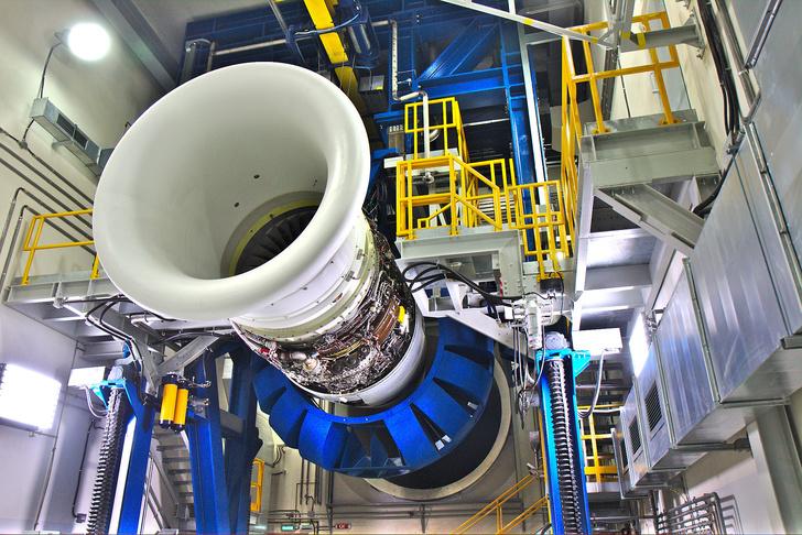 Двигатель ПС-90А наиспытательном стенде ©Роман Ковригин/Сделано унас