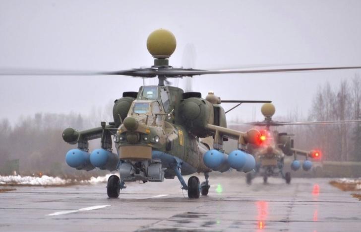 В авиачасть ЮВО поступила пара учебно-боевых вертолетов Ми-28УБ «Ночной охотник»