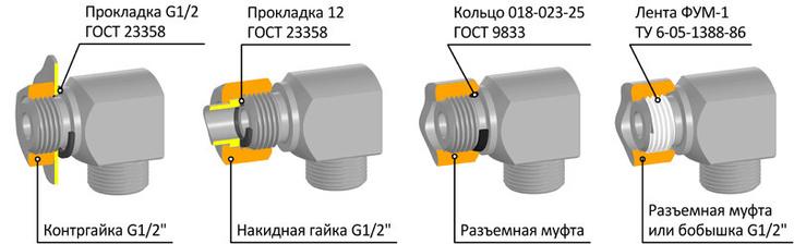 Схема монтажных соединений