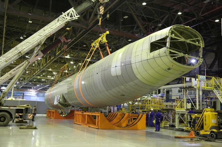 Фюзеляж самолета МС-21-300 доставлен в г. Жуковский