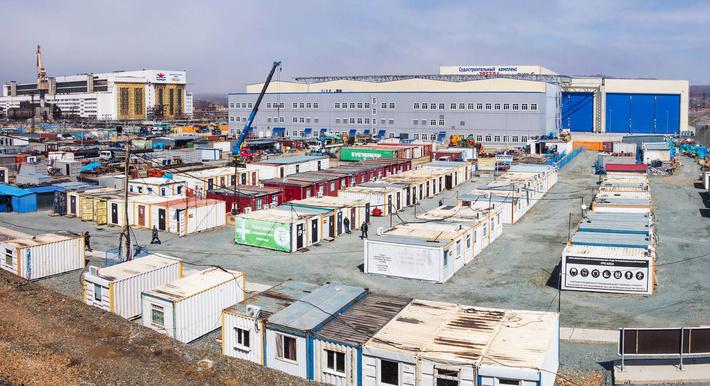 Строительная площадка судостроительного комплекса «Звезда»