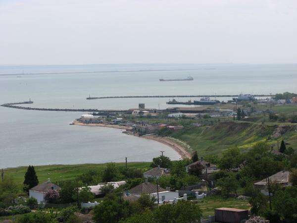 Паромная переправа с берега Крыма