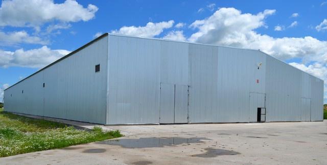 Строительство быстровозводимого зернохранилища