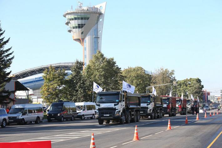 Дорога между аэропортами Шереметьево на территории Химок