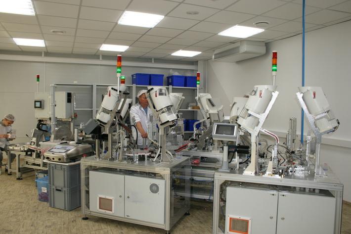 Автоматизированный комплекс по производству капиллярных пробирок завода Эйлитон