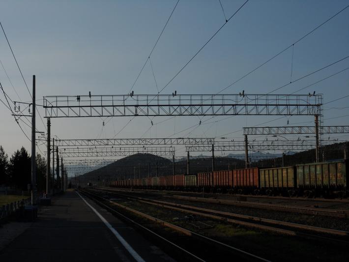Светодиодные светильники на железнодорожной станции Таксимо