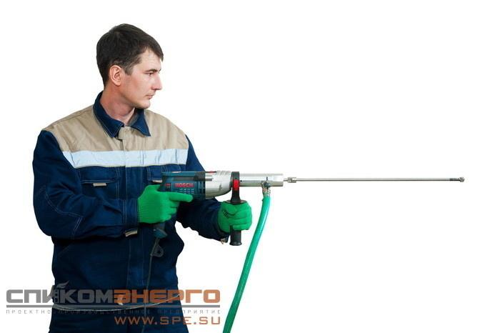 Устройство TURBO-E для очистки трубок теплообменников