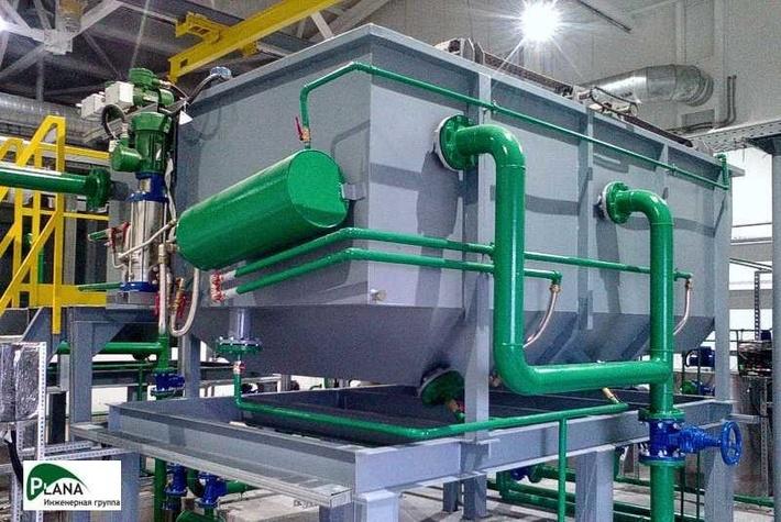 Флотационная очистка производственно-дождевых стоков