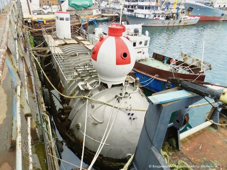 """Глубоководный аппарат """"Бентос-300"""". Фото из архива В.Никифорова"""