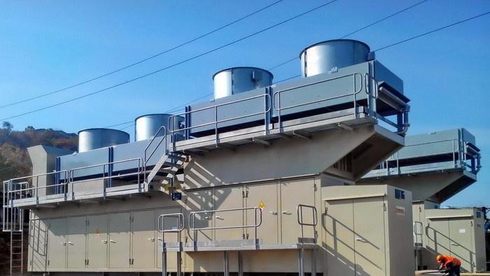 Газокомпрессорные установки смонтированы на эксплуатационной площадке