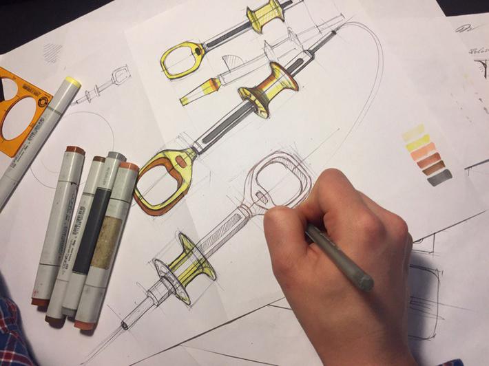 Поисковые дизайн эскизы медицинского оборудования