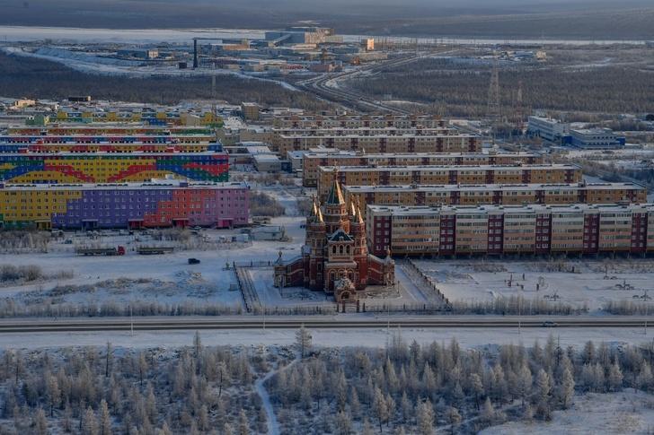 новый микрорайон г. Удачный, где для работников Верхне-Мунского месторождения построены жилые комплексы
