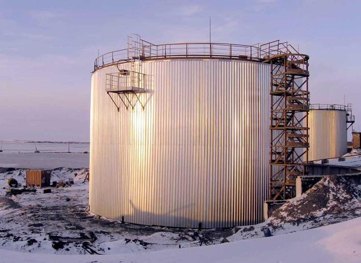 Резервуар под хранилище мазута объёмом 3000 куб.м.