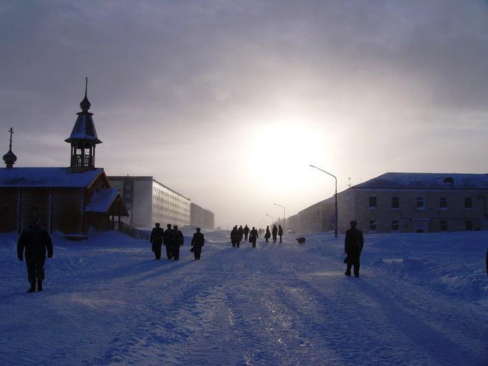 В суровом климате полярного севера