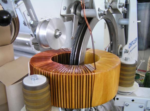 Процесс намотки трансформатора тока ТВ-СВЭЛ