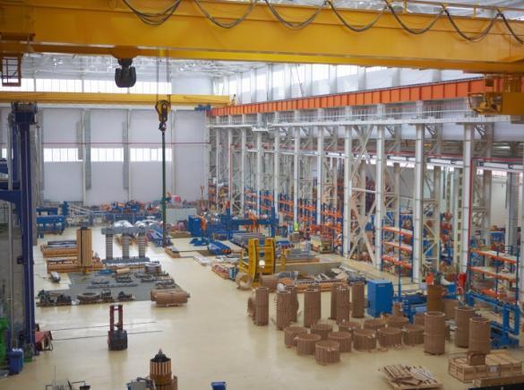 Общий вид нового цеха Нижне-Исетского завода металлоконструкций