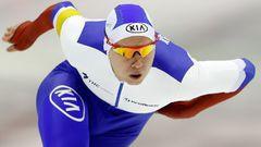 КОНЬКИ. Российский конькобежец Павел КУЛИЖНИКОВ. Фото AFP