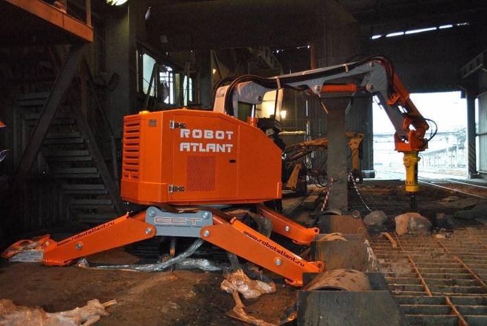 """Пример работы робота """"Атлант 4000"""". Комбинат"""