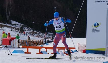 Россияне оформили победный дубль в спринте на ЧМ по биатлону среди юниоров