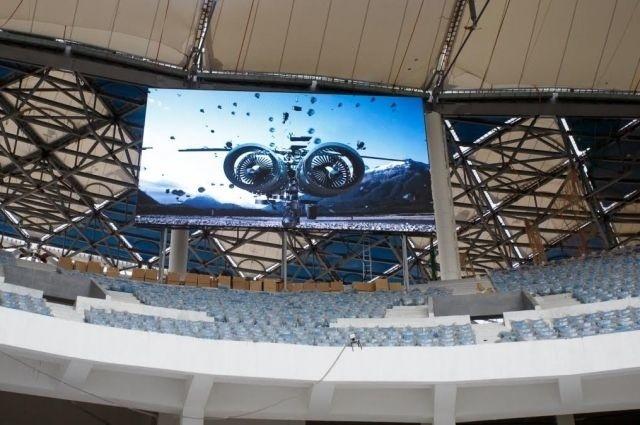 На «Волгоград Арене» установили светодиодные экраны