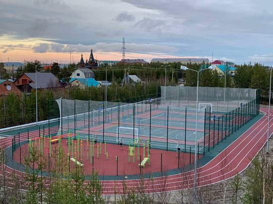 В Пурпе открылась новая многофункциональная спортплощадка