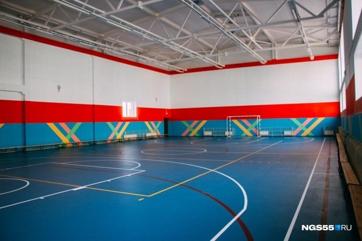 Самый большой из спортзалов школы