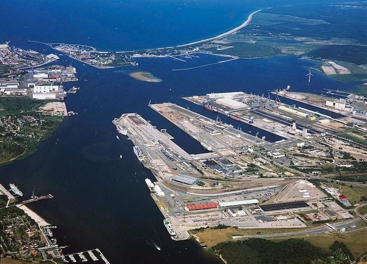 порт Росток в Германии
