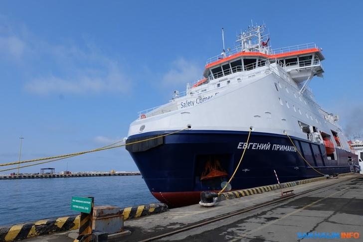 Новое ледокольное судно для проекта «Сахалин-2» прибыло на Сахалин