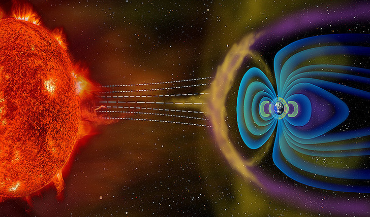 Плазменный ураган из корональной дыры