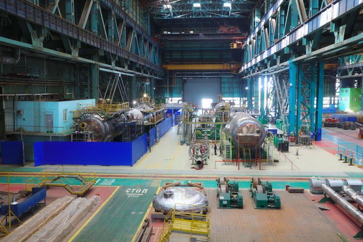 Гидравлические испытания парогенератора для Курской АЭС-2