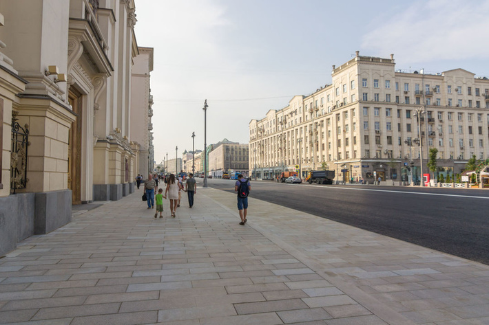 Москва, Тверская улица после реконструкции