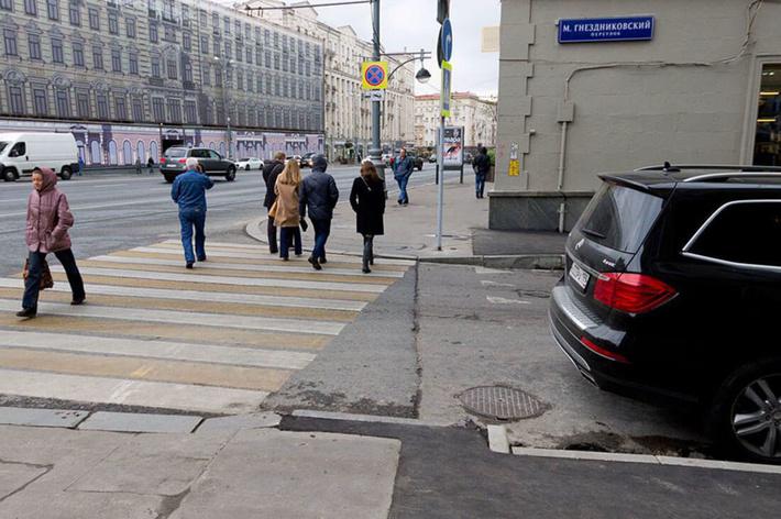 Москва, Тверская улица и Малый Гнездниковский переулок