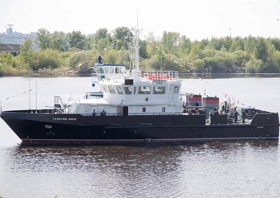 Большой гидрографический катер «Георгий Зима» вышел в море для прохождения ходовых испытаний