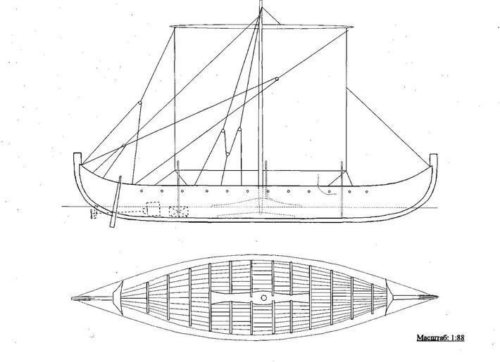 лодки викингов чертеж