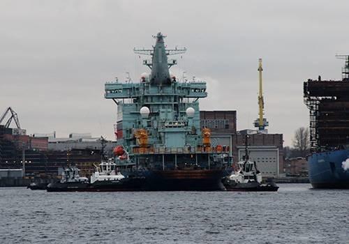 """Головной атомный ледокол проекта 22220 """"Арктика"""" вышел на ходовые испытания"""