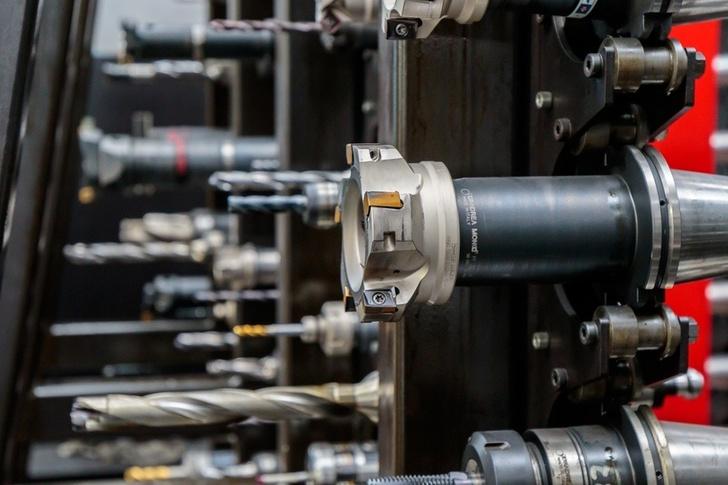 Линия выполняет обработку литой заготовки в полном объеме, включая высокоточную обработку поверхностей
