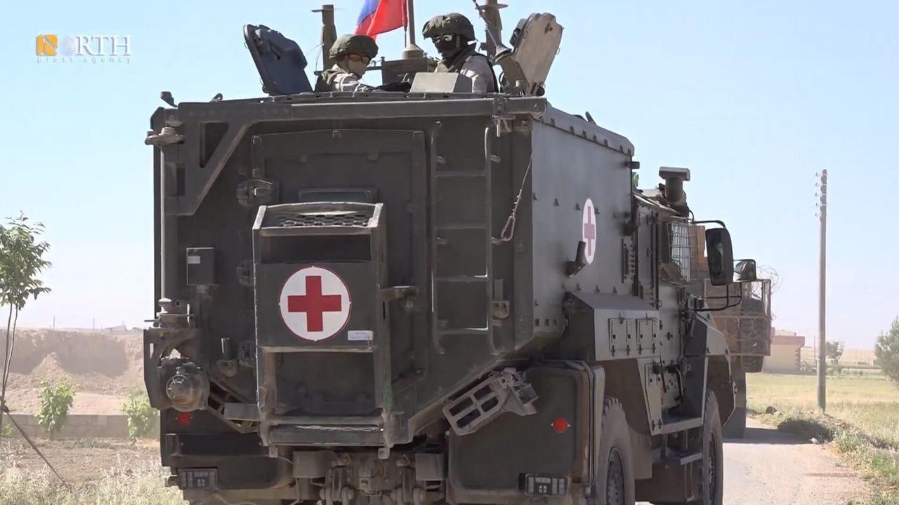 Медицинский бронеавтомобиль «Линза» на базе камазовского «Тайфуна-К» 4х4 в Сирии, Май 2021