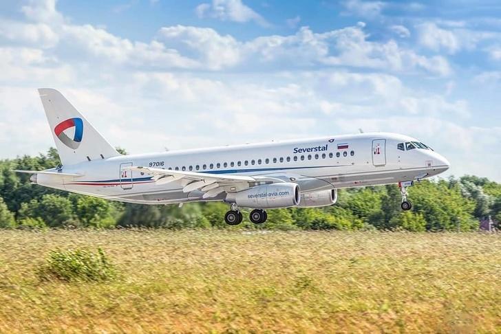 Началась эксплуатация SSJ в Авиакомпании Северсталь