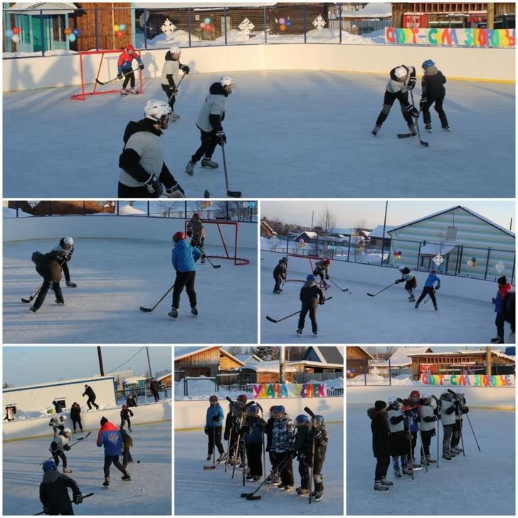 Открытие хоккейного корта в с. Саранпауль, 10 марта 2021 года.