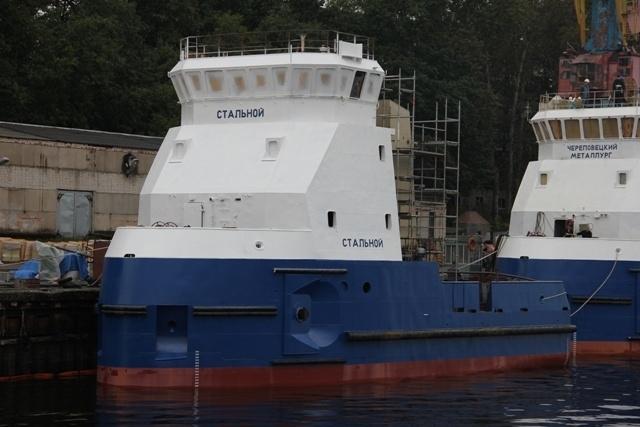 СНСЗ (Ленобласть) спустил на воду второе судно «Стальной» в серии из шести буксиров
