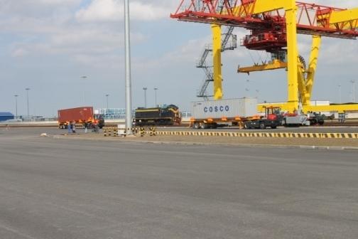 контейнерный терминал в