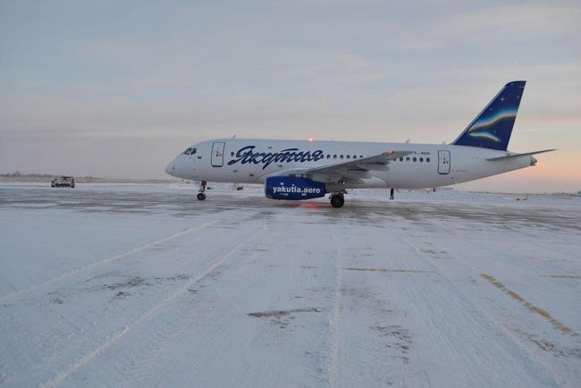 SSJ в аэропорту Якутии. ОН МОЖЕТ