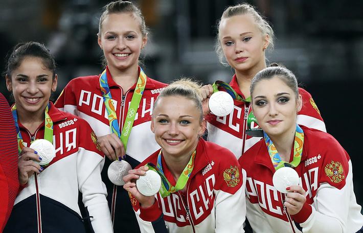 Женская сборная России по спортивной гимнастике - серебряный призер Олимпиады-2016