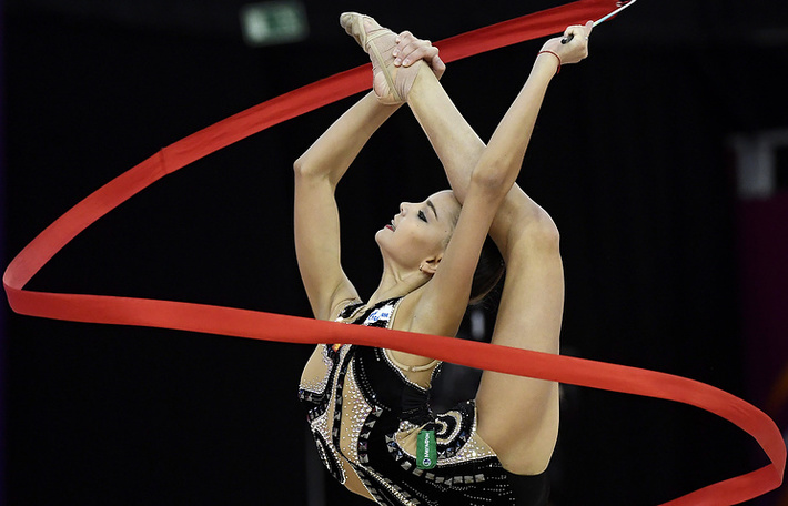 Чемпионка мира по художественной гимнастике 2017 года в личном многоборье Дина Аверина