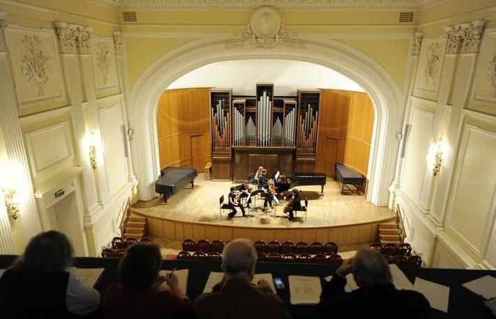 В Малом зале Московской государственной консерватории имени П.И. Чайковского