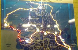 Карта-схема магистральных электрических сетей Санкт-Петербурга